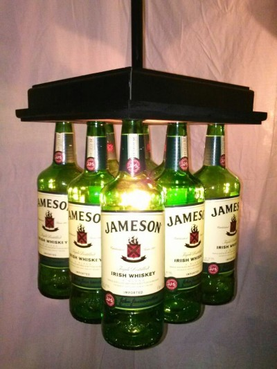 Jameson Whiskey Bottle Bar Light Table Chandelier