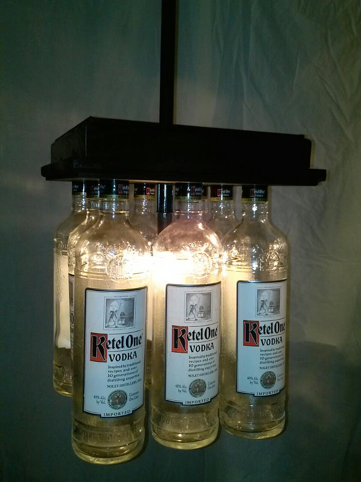 Ketel One Bar Light Table Chandelier Lamps Tumblers Vases Candles Glasses Candles
