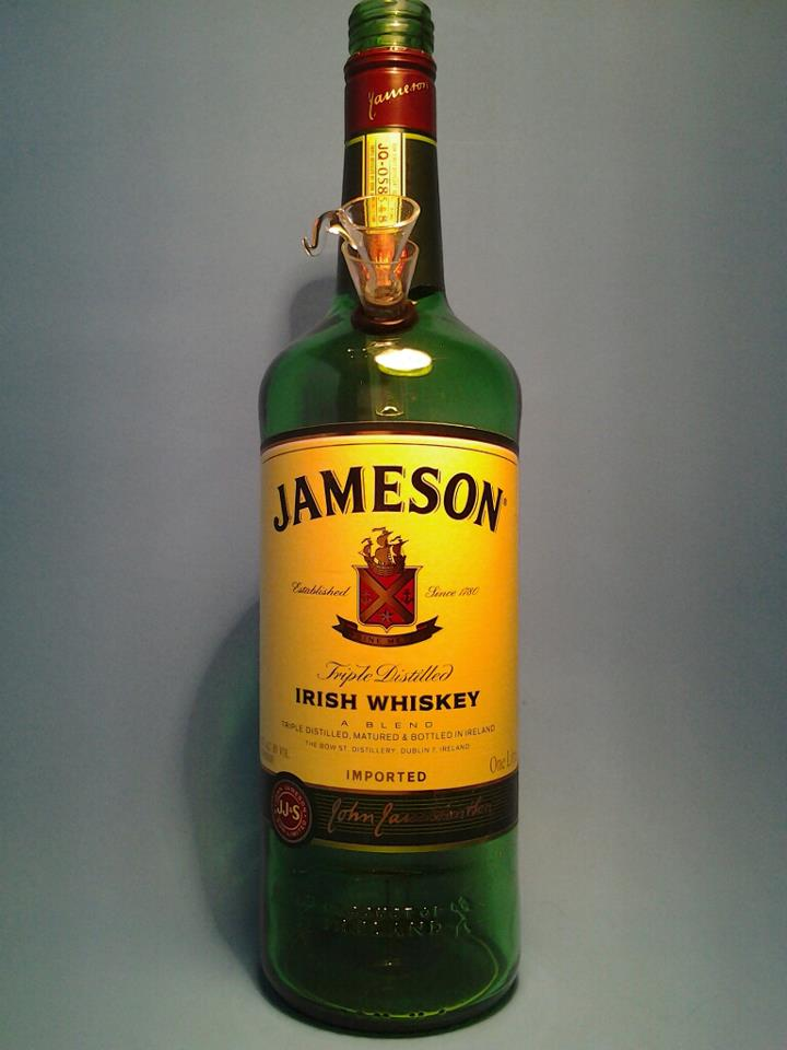 1  jameson liquor bottle water pipe