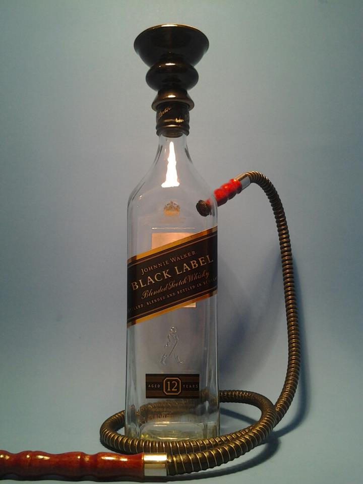 Johnnie Walker Black Black Hose Hookah No Plate Plate