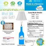 Liquor Bottle Table Light Lamp Shade