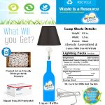 liquor bottle table lamp desk light
