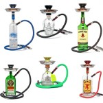 Liquor Bottle Hookahs - One Hose