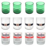Short Liquor Bottle Tumblers ( Sets Of 4 )