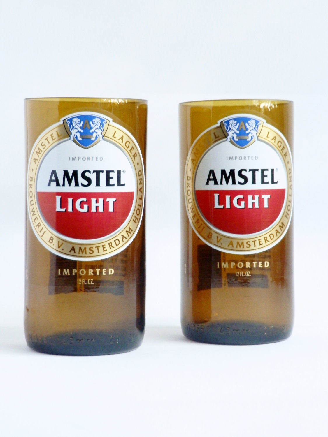 Amstel Light Beer Bottle Glass Tumblers1