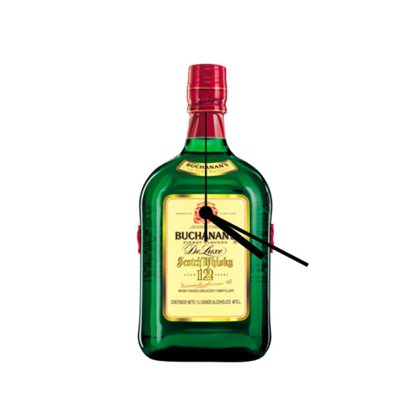 Buchana 174 Liquor Bottle Clock Liquor Bottle Hookahs