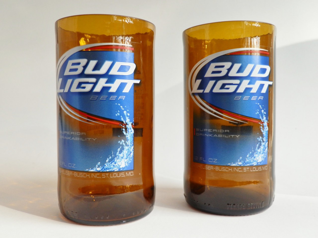 Bud Light Beer Bottle Glass Tumblers1
