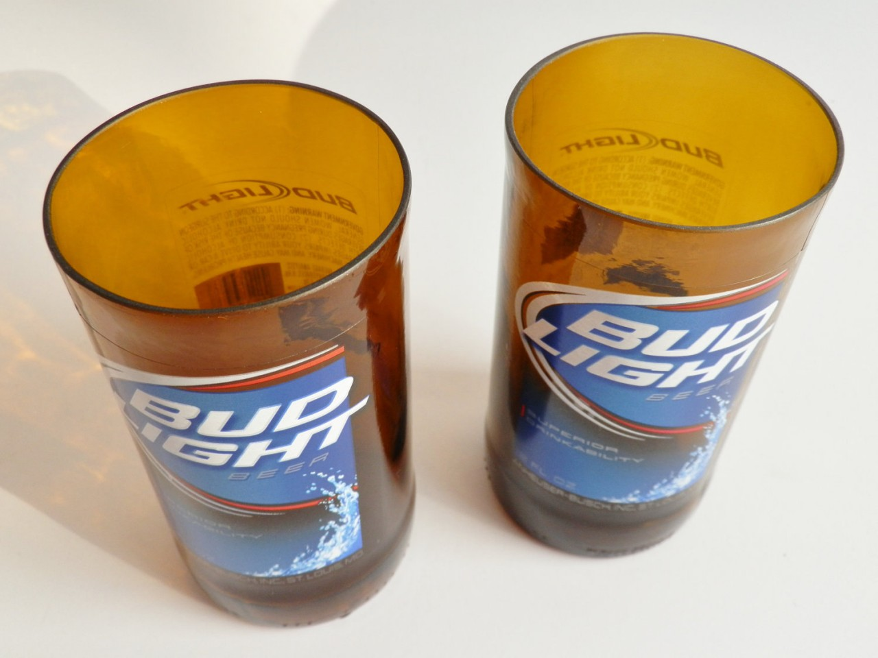 Bud Light Beer Bottle Glass Tumblers2