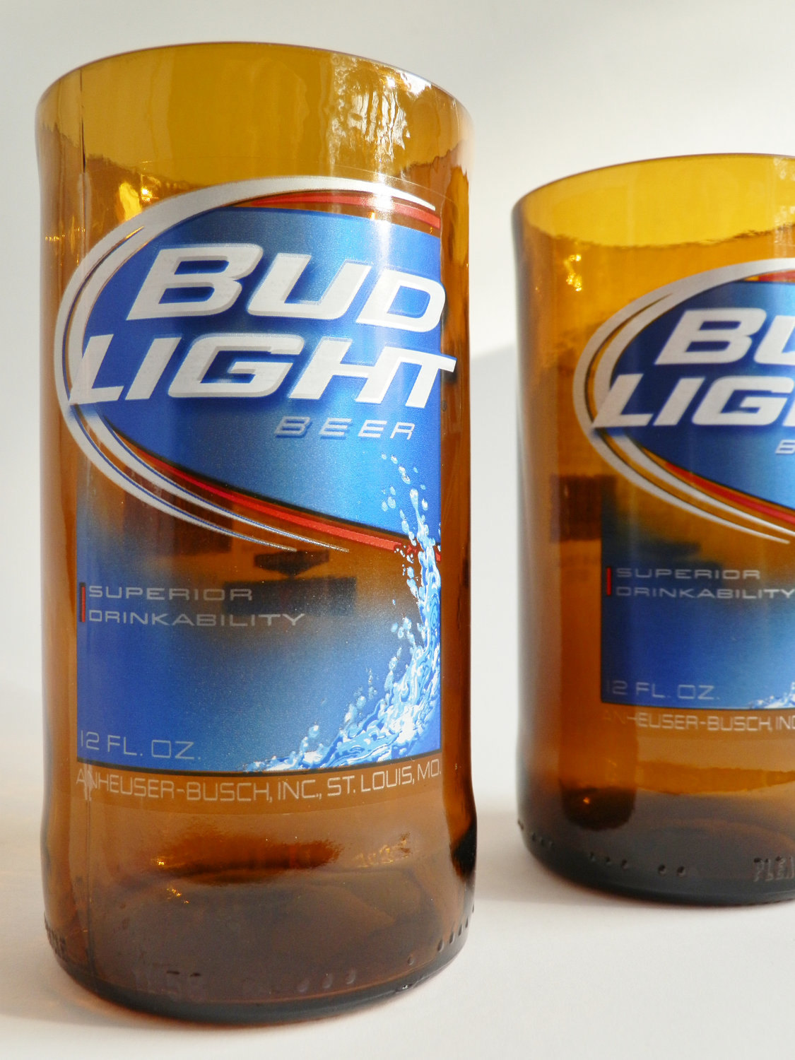 Bud Light Beer Bottle Glass Tumblers3