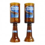 Bud Light Beer Bottle Goblets