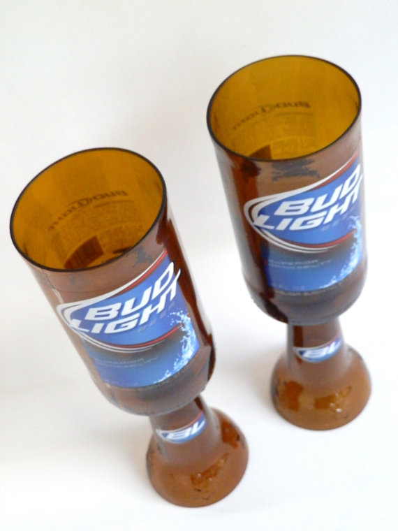 Bud Light Beer Bottle Goblets2