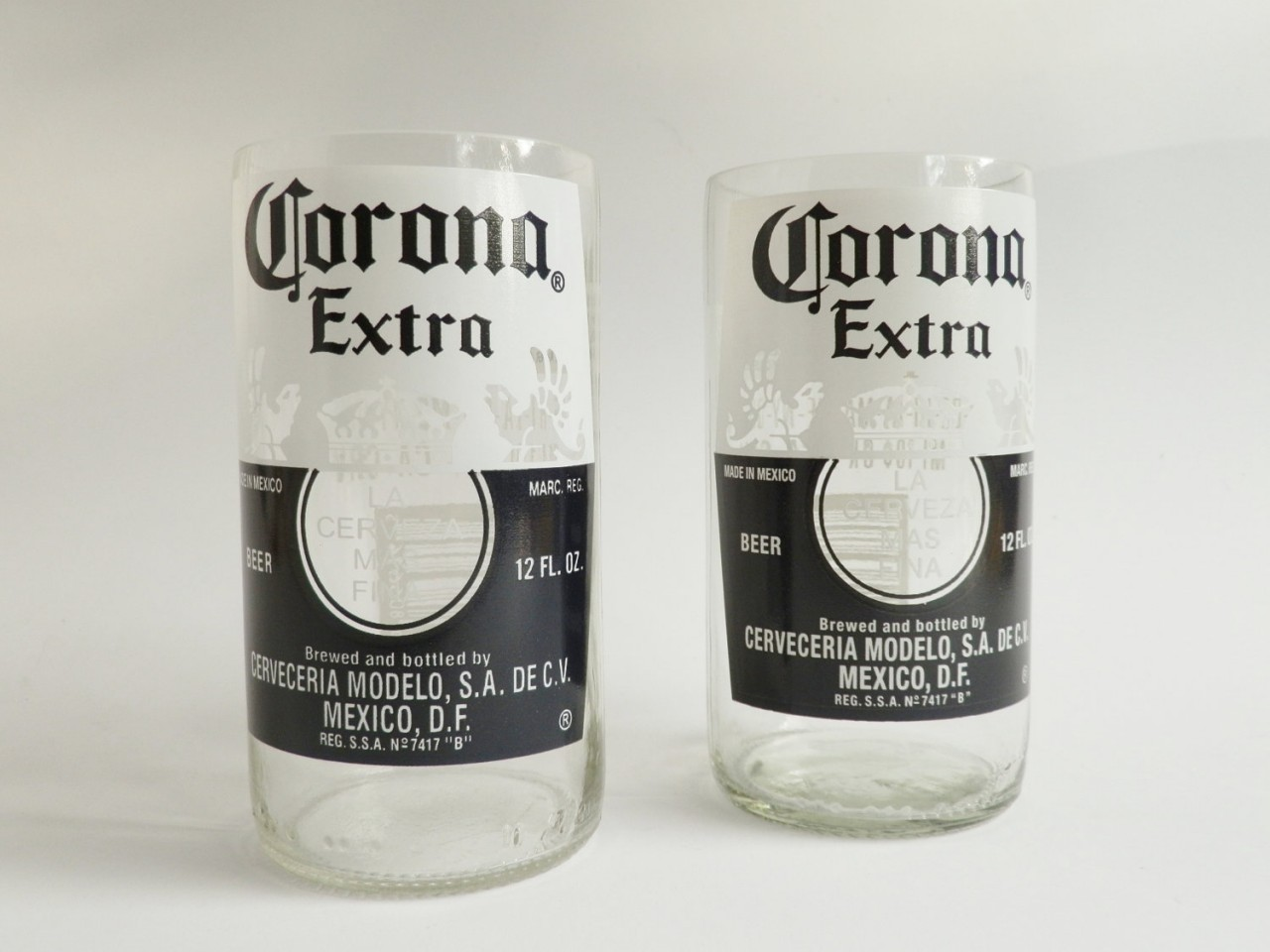 Corona Beer Bottle Glass Tumblers 2 - Copy