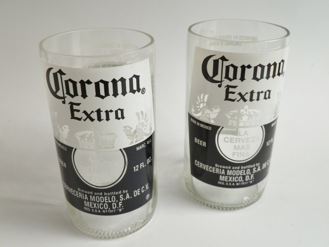 Corona Beer Bottle Glass Tumblers - Copy