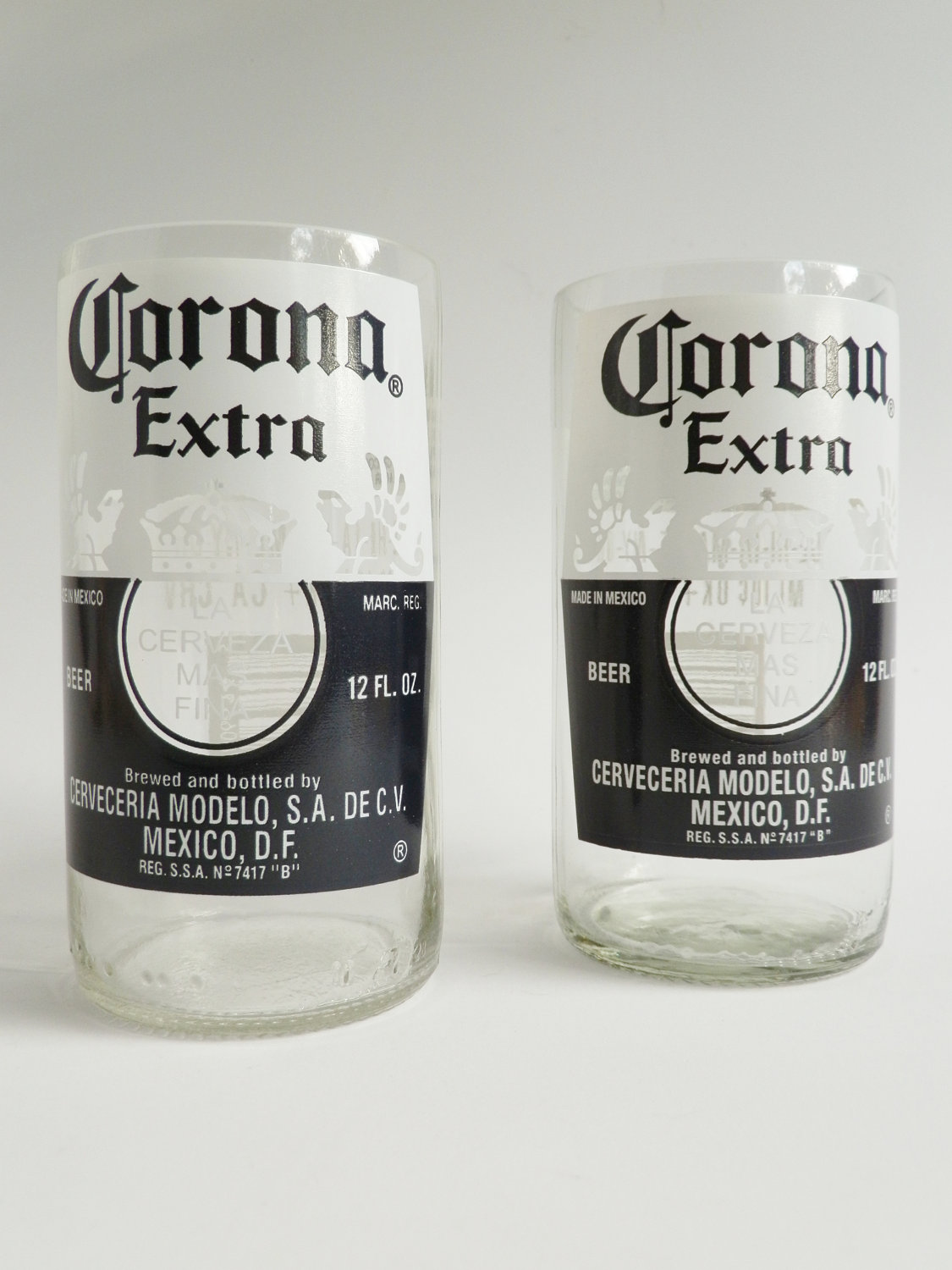 Corona Beer Bottle Glass Tumblers1 - Copy