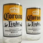Corona Light Beer Bottle Glass Tumblers 1