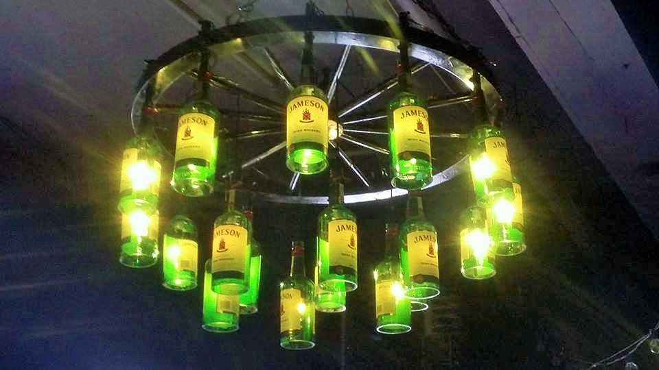 Jameson Whiskey Chandelier